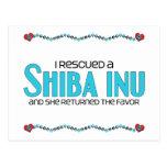 I Rescued a Shiba Inu (Female Dog) Postcards
