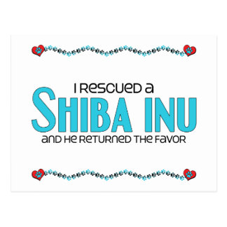 I Rescued a Shiba Inu (Male Dog) Postcard