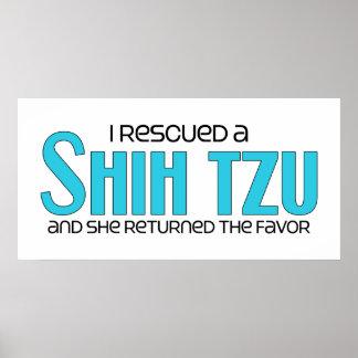 I Rescued a Shih Tzu (Female Dog) Poster