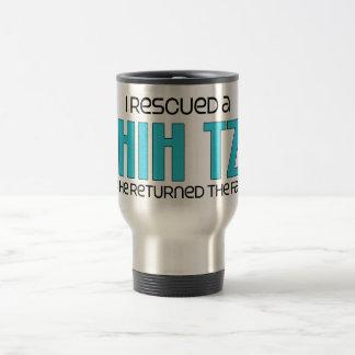 I Rescued a Shih Tzu (Male Dog) 15 Oz Stainless Steel Travel Mug