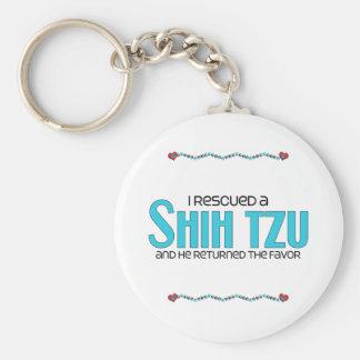 I Rescued a Shih Tzu (Male Dog) Keychain