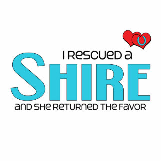 I Rescued a Shire (Female Horse) Photo Cutout
