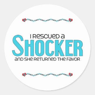 I Rescued a Shocker (Female) Dog Adoption Design Classic Round Sticker