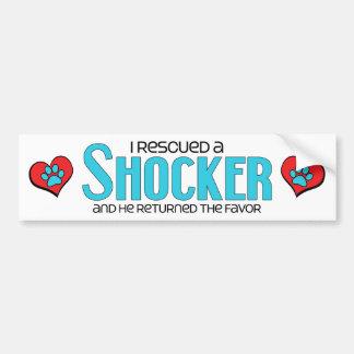 I Rescued a Shocker (Male) Dog Adoption Design Car Bumper Sticker