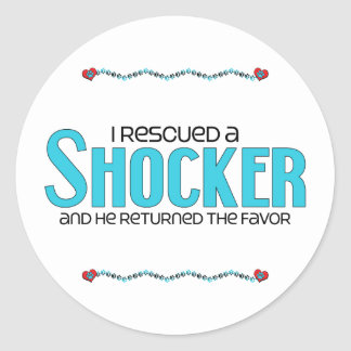I Rescued a Shocker (Male) Dog Adoption Design Classic Round Sticker
