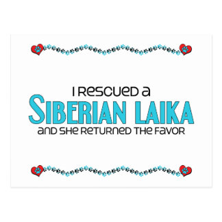 I Rescued a Siberian Laika (Female Dog) Postcard
