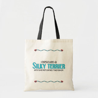 I Rescued a Silky Terrier (Female Dog) Budget Tote Bag