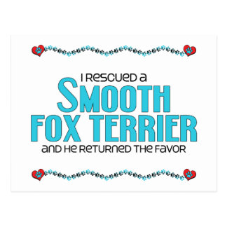 I Rescued a Smooth Fox Terrier (Male Dog) Postcard