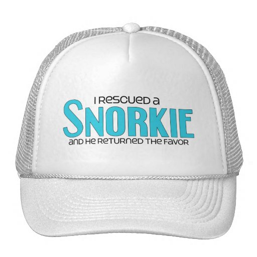 I Rescued a Snorkie (Male) Dog Adoption Design Trucker Hat