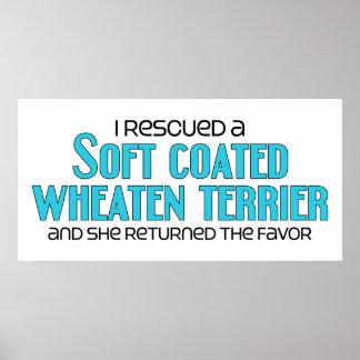 I Rescued a Soft Coated Wheaten Terrier (Female) Print