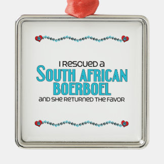I Rescued a South African Boerboel (Female Dog) Christmas Ornament