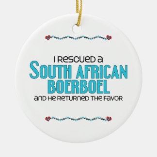 I Rescued a South African Boerboel (Male Dog) Christmas Tree Ornament