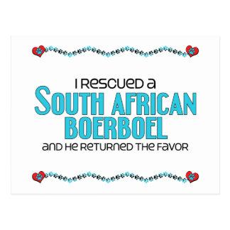 I Rescued a South African Boerboel (Male Dog) Postcard