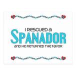 I Rescued a Spanador (Male) Dog Adoption Design Postcards
