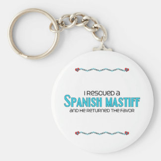 I Rescued a Spanish Mastiff (Male Dog) Basic Round Button Keychain