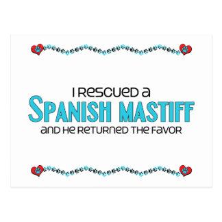I Rescued a Spanish Mastiff (Male Dog) Postcard