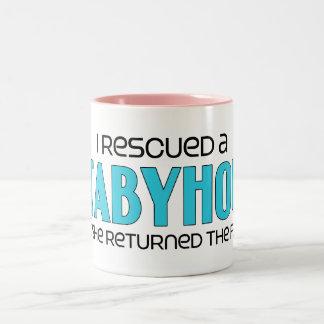 I Rescued a Stabyhoun (Female Dog) Two-Tone Coffee Mug