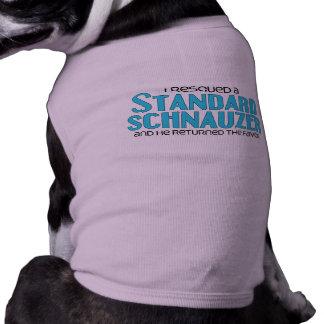 I Rescued a Standard Schnauzer (Male Dog) T-Shirt