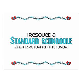 I Rescued a Standard Schnoodle (Male) Dog Adoption Postcard
