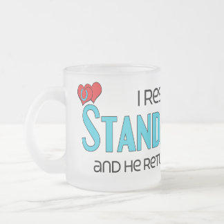 I Rescued a Standardbred (Male Horse) 10 Oz Frosted Glass Coffee Mug