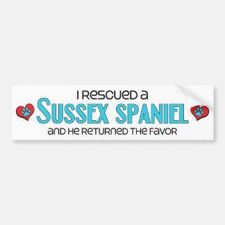 I Rescued a Sussex Spaniel (Male Dog) Bumper Sticker