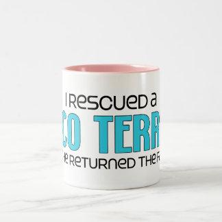 I Rescued a Taco Terrier (Male) Dog Adoption Two-Tone Coffee Mug