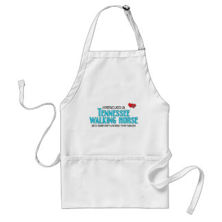 I Rescued a Tennessee Walking Horse (Female Horse) Adult Apron