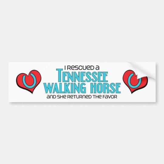 I Rescued a Tennessee Walking Horse (Female Horse) Bumper Sticker