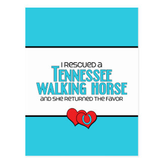 I Rescued a Tennessee Walking Horse (Female Horse) Postcard