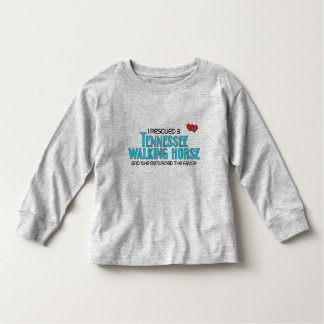 I Rescued a Tennessee Walking Horse (Female Horse) Toddler T-shirt