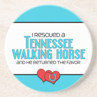 I Rescued a Tennessee Walking Horse (Male Horse) Coaster