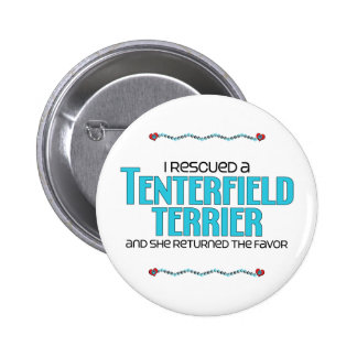 I Rescued a Tenterfield Terrier (Female Dog) 2 Inch Round Button