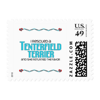 I Rescued a Tenterfield Terrier (Female Dog) Stamp