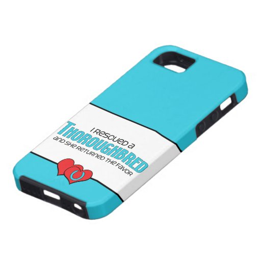 I Rescued a Thoroughbred (Female Horse) iPhone 5 Cases