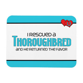 I Rescued a Thoroughbred (Male Horse) Rectangular Photo Magnet
