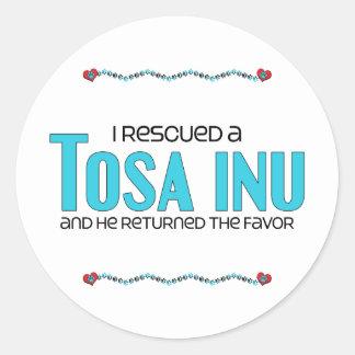 I Rescued a Tosa Inu (Male Dog) Stickers