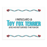 I Rescued a Toy Fox Terrier (Male Dog) Post Card