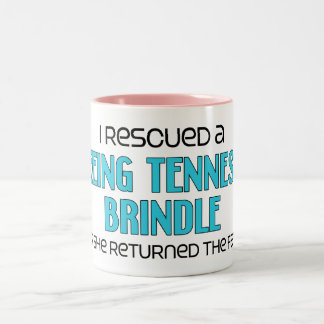 I Rescued a Treeing Tennessee Brindle (Female Dog) Two-Tone Coffee Mug