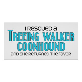I Rescued a Treeing Walker Coonhound (Female Dog) Posters