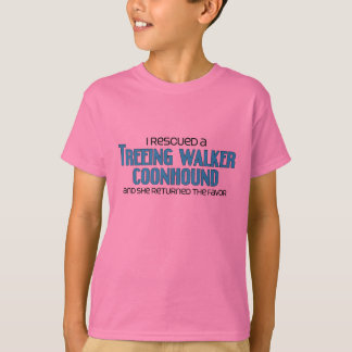 I Rescued a Treeing Walker Coonhound (Female Dog) T-Shirt