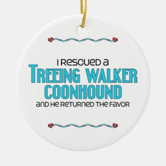 I Rescued a Treeing Walker Coonhound (Male Dog) Ceramic Ornament