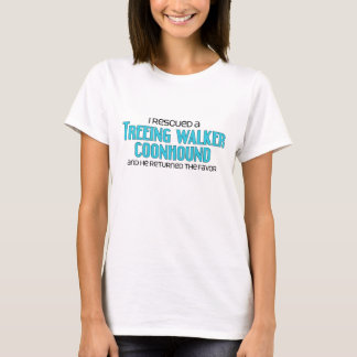 I Rescued a Treeing Walker Coonhound (Male Dog) T-Shirt