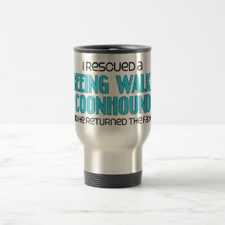 I Rescued a Treeing Walker Coonhound (Male Dog) Travel Mug