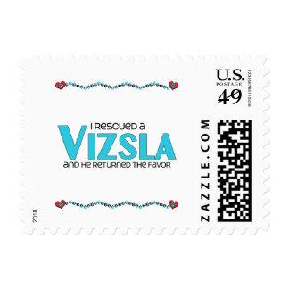 I Rescued a Vizsla (Male Dog) Postage Stamp