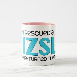 I Rescued a Vizsla (Male Dog) Two-Tone Coffee Mug