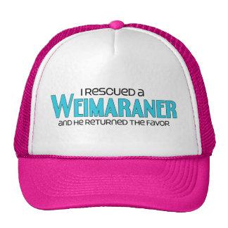 I Rescued a Weimaraner (Male Dog) Trucker Hat