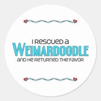 I Rescued a Weimardoodle (Male) Dog Adoption Sticker