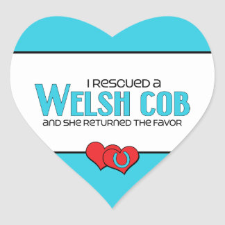 I Rescued a Welsh Cob (Female Pony) Heart Stickers