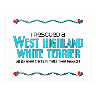 I Rescued a West Highland White Terrier (Female) Postcard