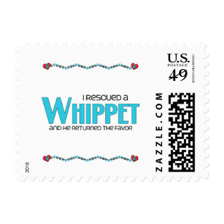 I Rescued a Whippet (Male Dog) Postage Stamps